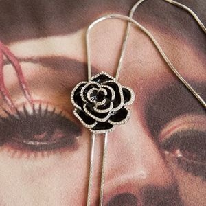14kt Gold Dipped Swarovski Flower Necklace